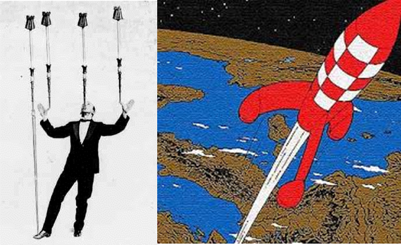 Can you spot the difference between balancing a broom and a space rocket?